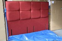 Hypnos Fiona Euro Slim Headboard For 180 Cm Super King 6ft Linoso Red