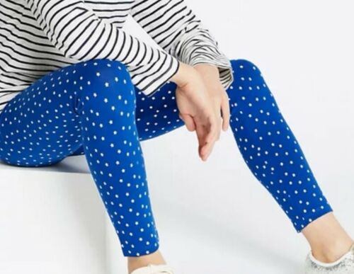 Girls Leggings Blue Star Print Age 3-14 Years New Ex M/&S