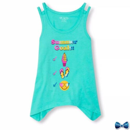 """The Childrens Place Size 5-6 """"Summer Goals"""" Tank New With Tags"""