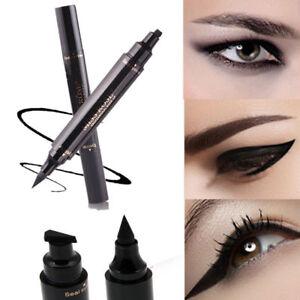 Winged-Eyeliner-Stamp-Waterproof-Cosmetic-Makeup-Eye-Liner-Pencil-Black-Liquid