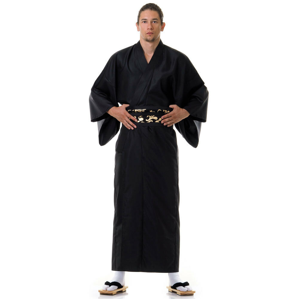 new product exclusive deals fresh styles Details about Japanese Men Samurai Kimono Robe Vintage Wedding Yukata Obi  Cosplay Costume Long