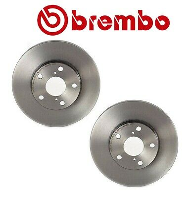 Pair Set of 2 Front 275mm Coat Vented Disc Brake Rotors Brembo for Scion Toyota