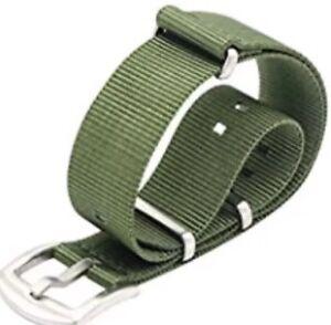 ???? Bracelet Montre Nato Vert Kaki Militaire ArmÉe 20 Mm !????