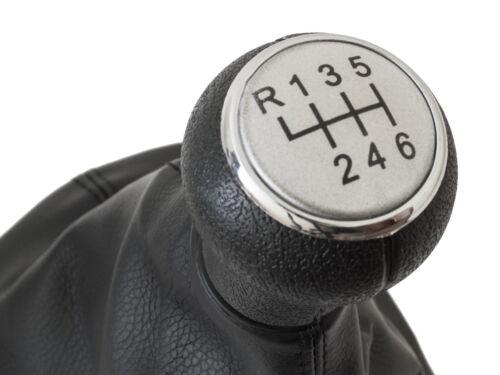 VW PASSAT B5 FL 00-05 GEAR SHIFT KNOB GAITER BLACK CHROME RING SILVER 6G
