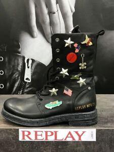 Boots Evy Leder Mit Stiefelette Stiefel Schuhe Replay Damenschuhe Broschen RFq7UI4