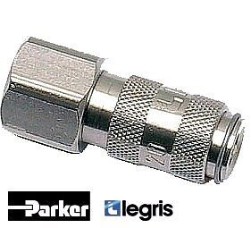 9214 Stainless Coupler Female Body BSPP & Metric Parker Legris - 9214X2010