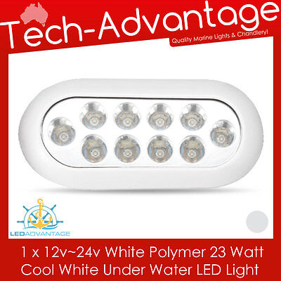 12~24V 23W WHITE LED BOAT UNDERWATER BAID SQUID TRANSOM WAKE BOARDING LED LIGHT