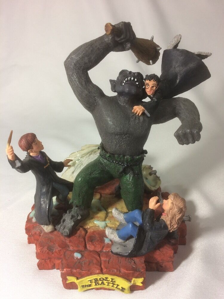 RARE  Harry Potter and the Sorcerer's Stone Stone Stone Statue  Troll The Battle a18676
