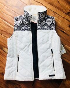 M Full Ivory Nwt Bas Vest Medium Zip Grey RYangvgqw