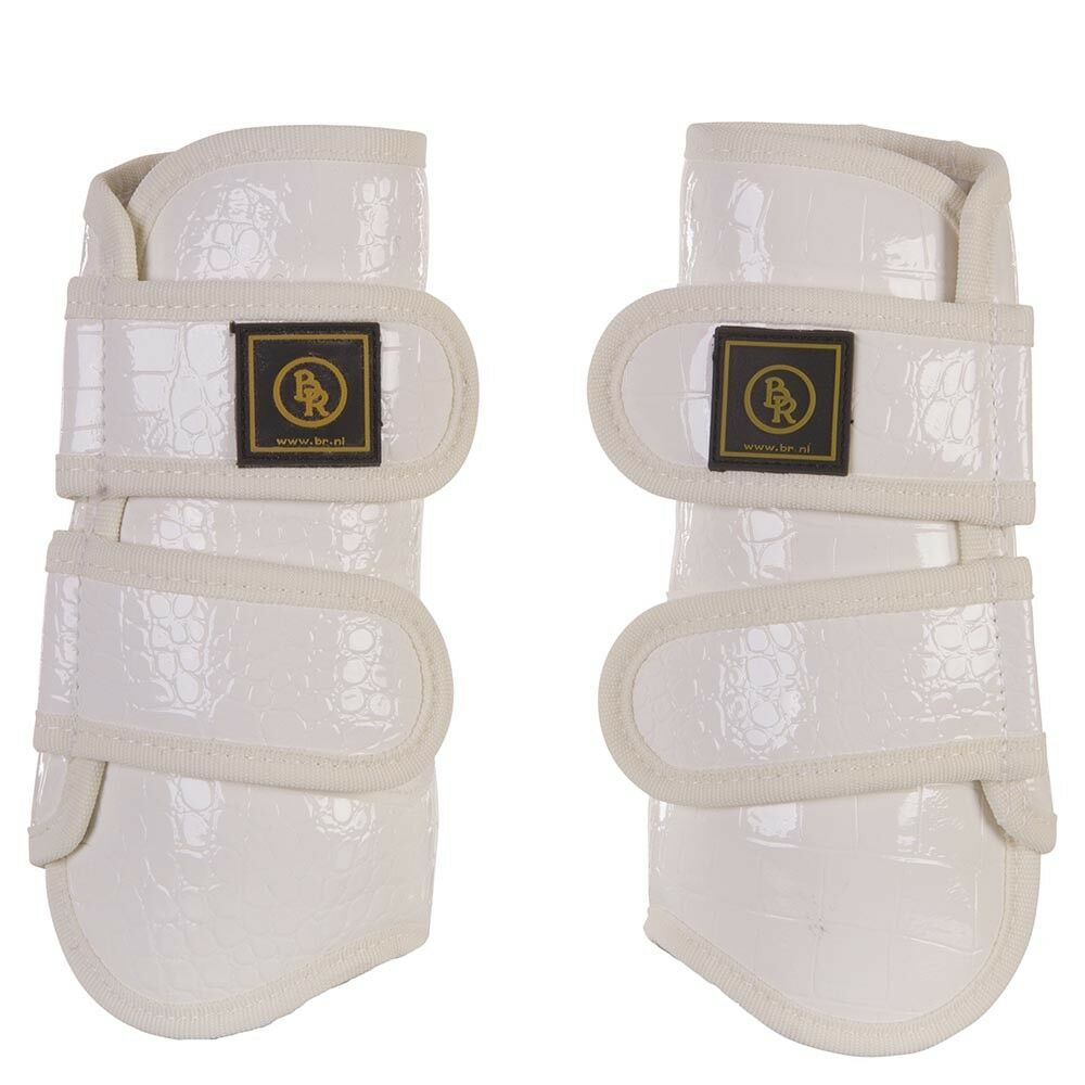 BR PROMAX TENDON BRUSHING BOOTS WHITE PATENT CROC CLEARANCE PRICE