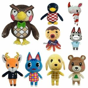 Animal-Crossing-Blathers-Goldie-Punchy-Maple-Beau-Rosie-Plush-Toys-Doll-Gifts