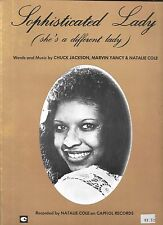 NATALIE COLE 1976 Sheet Music SOPHISTICATED LADY (She's a Different Lady) #1 BB