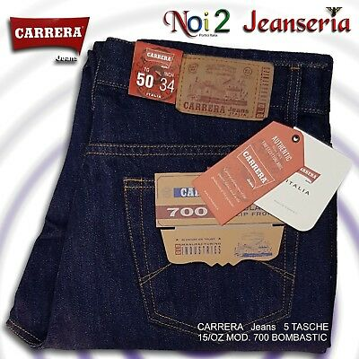 reputable site 8e39f e2652 Carrera Jeans Mod. 700 Dark Blue (Bombastic) Zip Front 15 Oz Measures da 46  a 62 | eBay