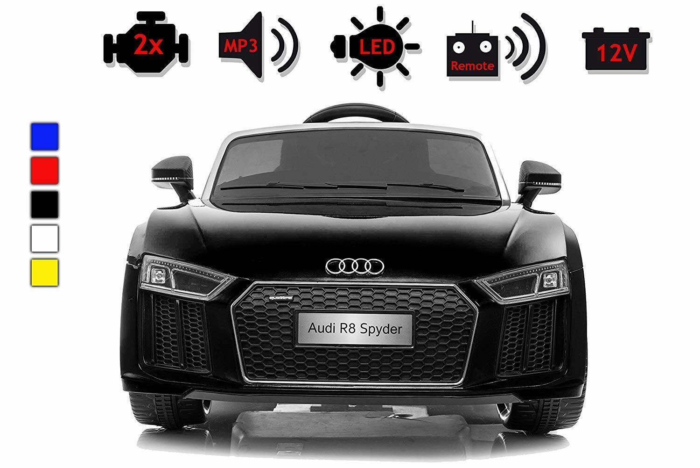Elektroauto Audi R8 Spyder Kinder Auto  Lizenz Kinderfahrzeug schwarz