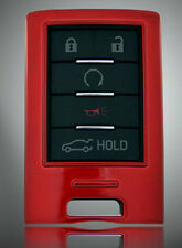 Red Case Holder Cover for CADILLAC XTS STS CTS DTS SRX RD Smart Remote Key Shell