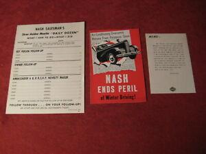 1940 Nash Sales Brochure booklet Catalog Book Old Original