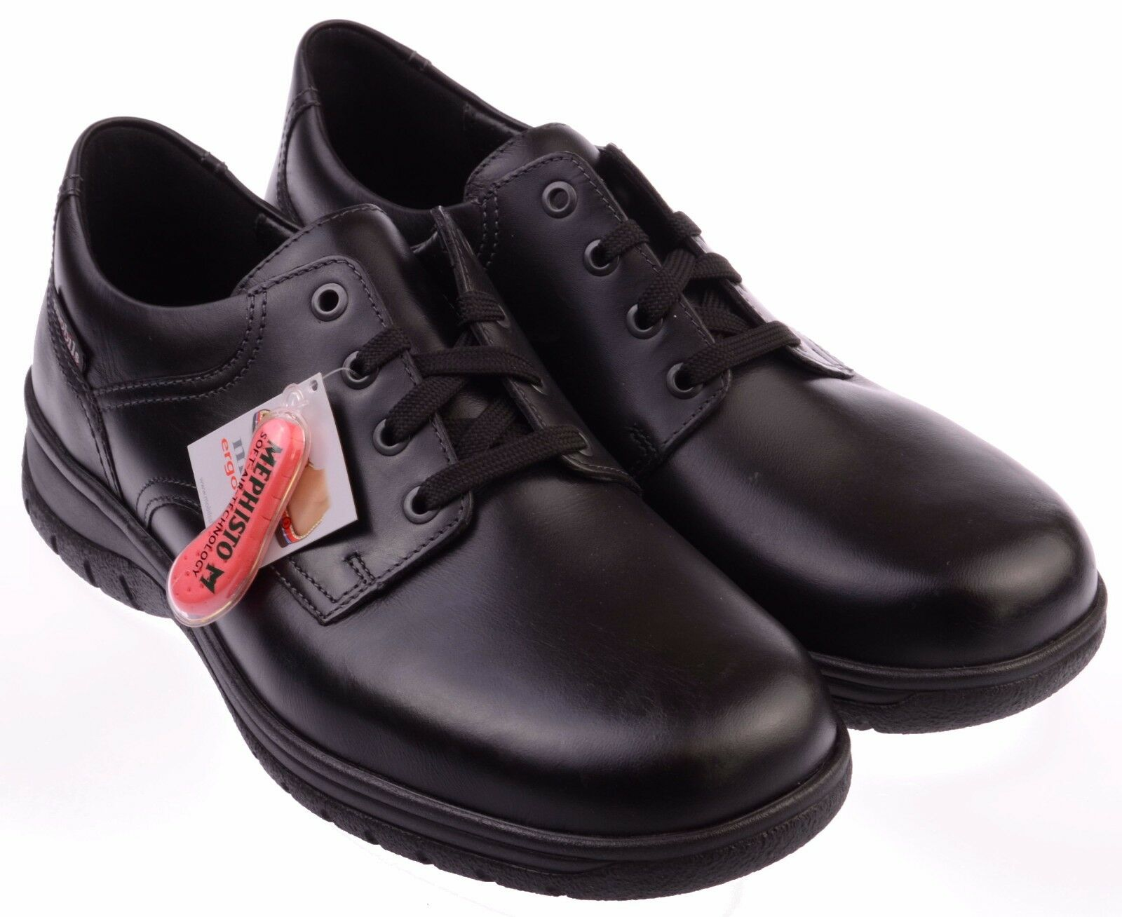 Homme à Lacets Formel Chaussures MEPHISTO Iago UK Noir Taille 9.5