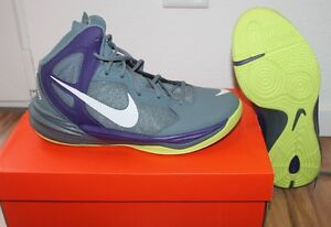 2ced84a8cee NIKE PRIME HYPE DF Basketball Hommes chaussure bleu mauve jaune ...