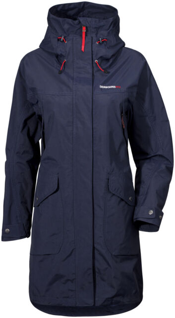 e9948080456 Didriksons Thelma Womens Parka Navy 40 - UK 14 for sale online   eBay