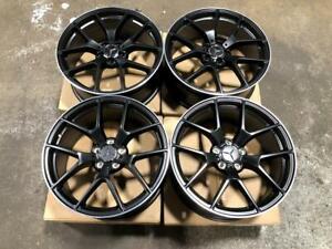 Matt Black Staggered Wheels 5x112 for Mercedes C Class, or CLA Calgary Alberta Preview