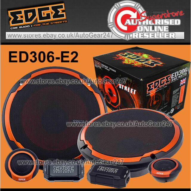 "New Edge Audio ED306-E2  6.5"" inch 165 mm 480w Watts Component Speakers Set Pair"