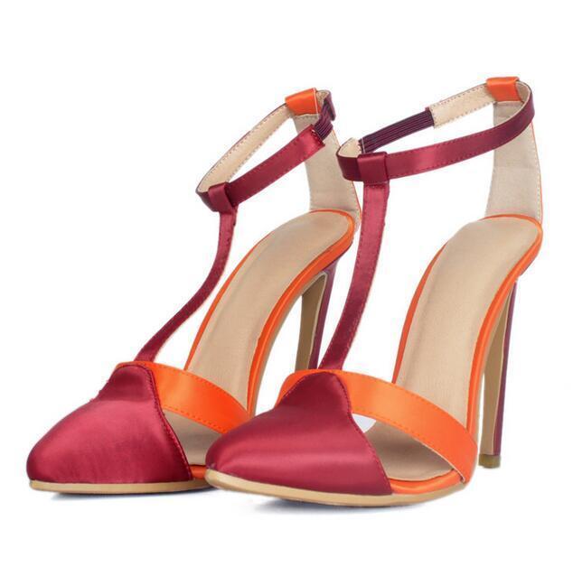 Womens Oxford Stilettos European Ankle Strap Stilettos High Heel shoes Uk 35-47