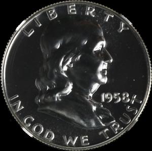 1958-P-Franklin-Half-Dollar-Proof-NGC-PF67-Blazing-White-Gem-STOCK