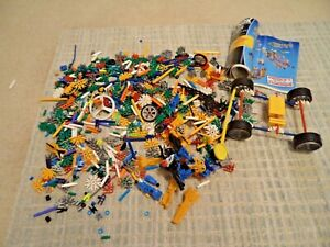 Mixed-K-039-nex-Bundle-Job-Lot-Knex-Pieces-Instruction-Book