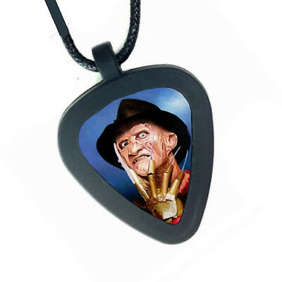 Movie Memorabilia Nightmare On Elm Street Freddy Krueger Pickbandz Real Guitar Pick Necklace Clear-Cut Texture