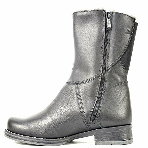 OGS Wide shoes Sabrina Wool Lining & Black Leather Boots Boots Boots 3E wide 37940d