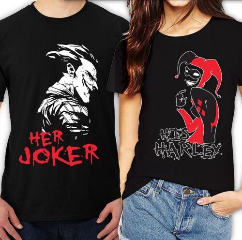 Son joker sa Harley Halloween couple Matching Belle mignon T-shirts S-4XL