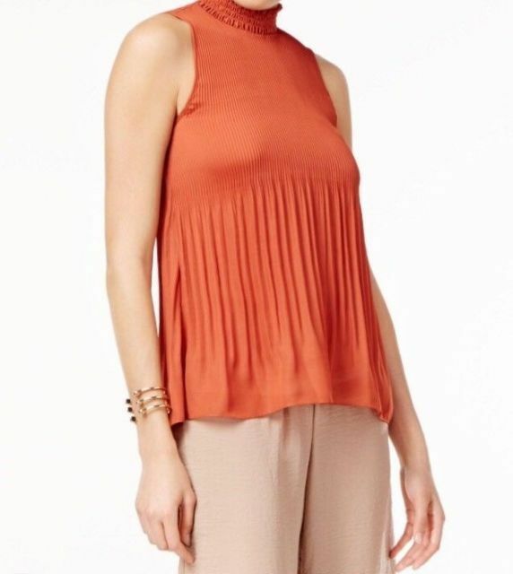 53689bdc97e94 Cable   Gauge Women s Pleated Sleeveless Stretch Top Size Small-NWT