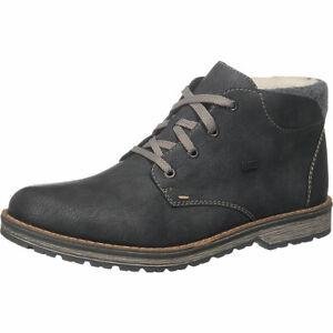 RIEKER STIEFEL HERREN Boots Gr. DE 43 Kunstleder, Leder grau