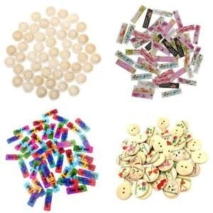 200x-Mixed-Handmade-Tags-2-4-Holes-Wooden-Buttons-Connector-Sewing-Scrapbook