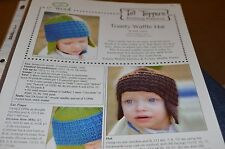 Tot Toppers Toasty Waffle Hat Knitting Pattern Newborn Toddler