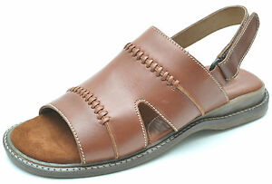 4d72d9ee3141 Franco Fortini MILANO Brown Leather Sides Slip-Ons Sandals Men s 10 ...