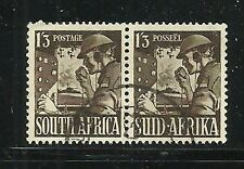 Album Treasures South Africa Scott # 89  1sh 3p Signal Corps VFU CDS Pair