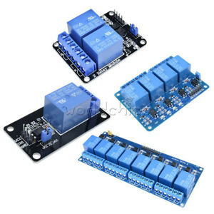 12V 4 Channel Relay Board Module Optocoupler LED for Arduino PiC ARM AVRC