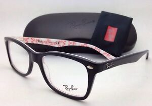 New RAY-BAN Rx-able Eyeglasses RB 5228 5014 53-17 Black on ...