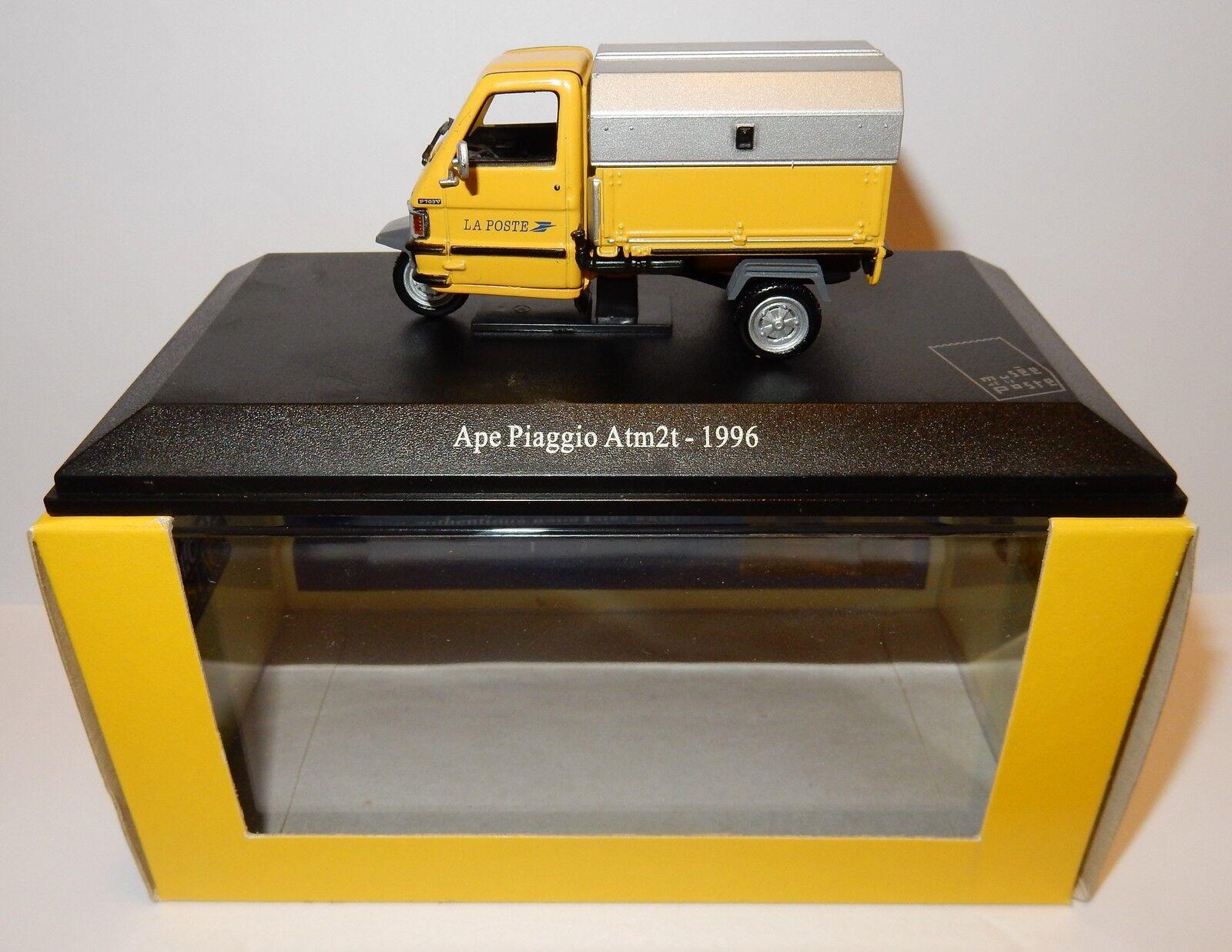 RARE SCOOTER TRIPORTEUR APE PIAGGIO ATM2T 1996 POSTES POSTE PTT 1 43 IN LUXE BOX