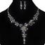 Fashion-Women-Rhinestone-Crystal-Choker-Bib-Statement-Pendant-Necklace-Chain-Set thumbnail 16