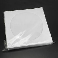 50 CD DVD White Paper Sleeve with Clear Window and Flap Envelopes