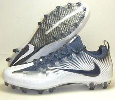 New Nike Vapor Untouchable Pro PF Football Lacrosse Cleats Sz 10 Navy Blue White