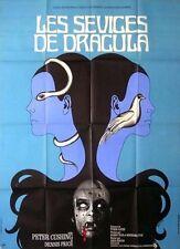 Affiche 120x160cm LES SEVICES DE DRACULA / TWINS OF EVIL 1971 Peter Cushing