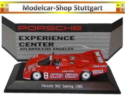 Museum Porsche 962 Sebring 1985  Experience Center Atlanta Spark 1//43 neu L.A