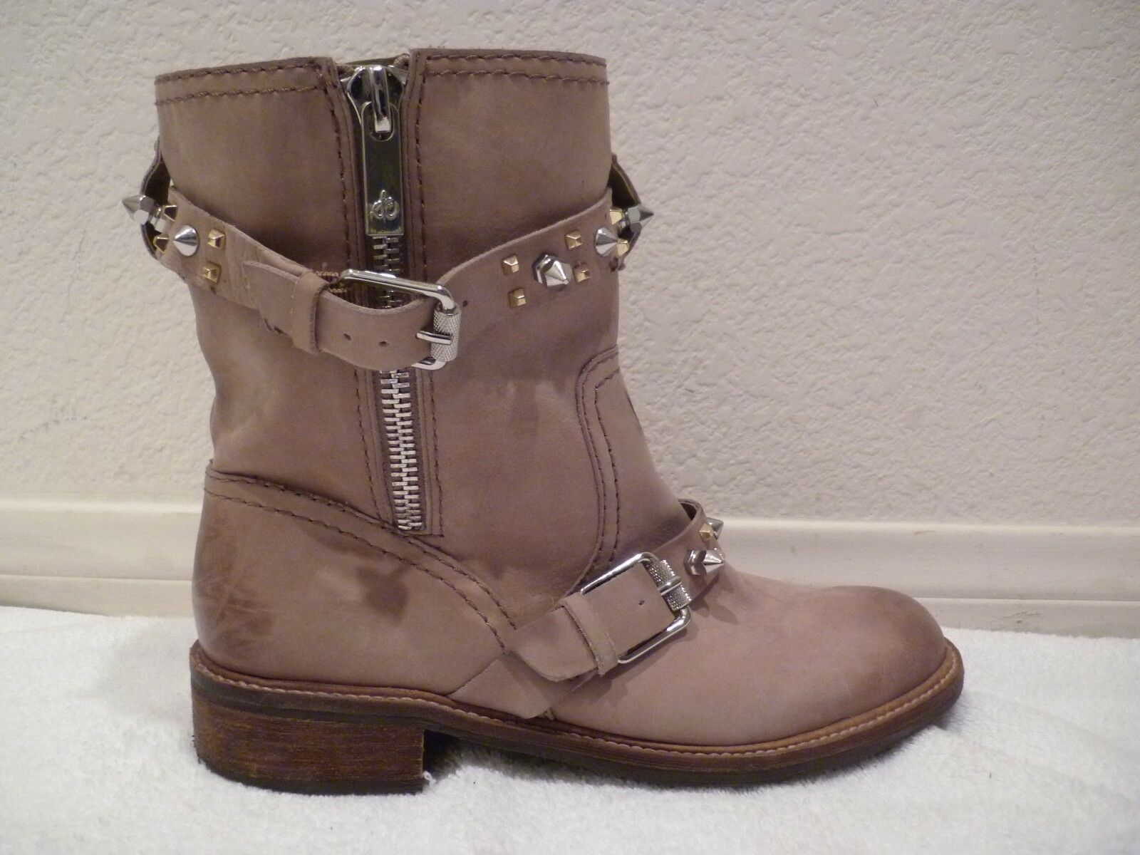 Sam Edelman 'Adele' Moto Suede spike Boot- brown tan - Size 7.5