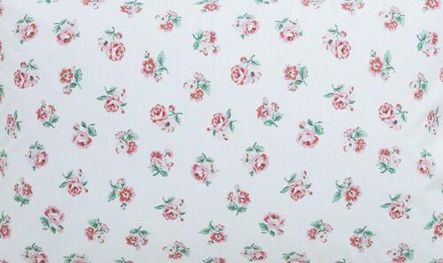 Cath Kidston cm Square Ashdown rose sur blanc en coton léger tissu nouveau