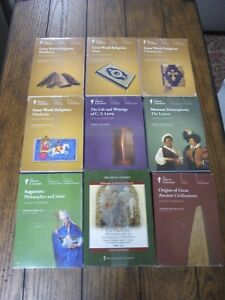 The-Great-Courses-Lot-8-CD-039-S-1-DVD-New-Religion-CS-Lewis-Louvre-Augustine-MORE