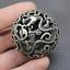 thumbnail 4 - Old Chinese Tibetan silver Dragons and phoenixes Handball Round ball