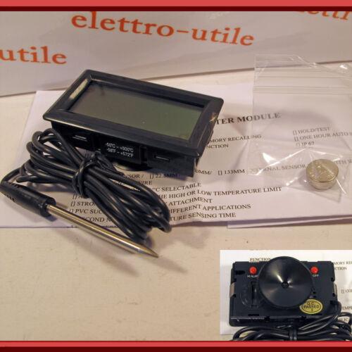 Termometro digitale incasso Display LCD -50° +300°C batteria per forno e frigo